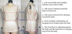 fitting and pattern corrections for small bust adjustment on a dartless blouse from In-House Patterns – In-House Patterns