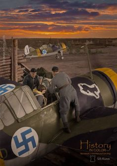 Military Diorama, Military Art, Ww2 Aircraft, Military Aircraft, Finland Air, Brewster Buffalo, Finnish Air Force, Germany Ww2, Colorized Photos