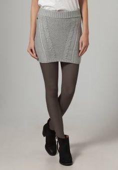 Edc By Esprit Minifalda Oxford Grey Melange vestidos y faldas Oxford Minifalda Melange Grey Esprit Edc By CentralModa.eu