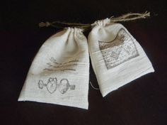 $10 for pretty little drawstring gift bags