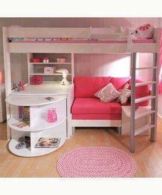 For a little girl : coin salon, bureau, lit, et rangement ...