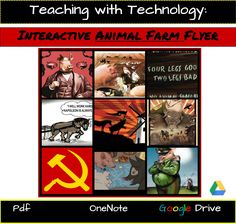 Create an Interactive Animal Farm Flyer with images, audio, and video to support student analysis of the text! Put students in the driver's seat by teaching with technology!