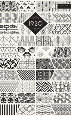 1920 Art Deco Seamless Patterns by The Paper Town on Creative Market