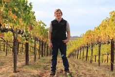 Our winemaker Scott Johnson checking out our Fair Play Farms vineyard in El Dorado County, Calif.