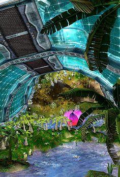 Interior of a Torus Colony Artificial World.  #SpaceColony  #ArtificialWorld  #LivingInSpace  #StanfordTorus