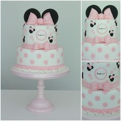 This week's theme is 'Minnie Mouse Cakes', and what an adorable, cute and beautiful collection it is! Please feel free to add any of your Minnie Mouse cakes below and congratulations to all the members featured – I love them all! Mickey And Minnie Cake, Minnie Mouse Birthday Cakes, Bolo Minnie, 1st Birthday Cakes, Baby 1st Birthday, Birthday Ideas, Bolo Laura, Mini Mouse Cake, Disney Cakes