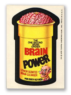 Topps Wacky Packages  13th Series 1975 BRAIN POWER