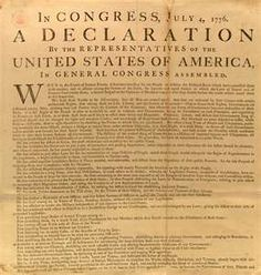 We hold these truths to be self-evident that all men are created equal...