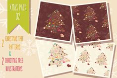 Christmas pack 002 by Blue Lela Illustrations on Creative Market