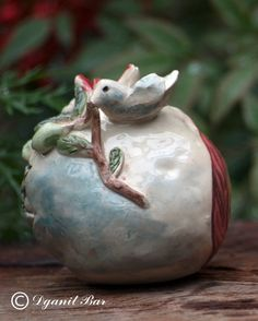 Pomegranate decorSymbol of abundance gift by ArtPotteryDganitBar