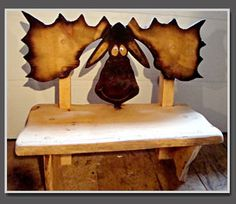 moose bear bench wood | This is an opportunity to not only adorn your home with the aura of ...