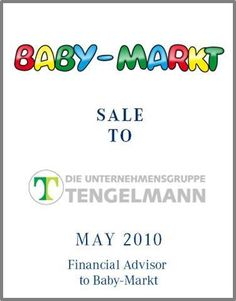 Baby-Markt.de is a leading online store for baby products in Germany. The company was founded in 2003 as an extension of the traditional brick and mortar business. Today Baby-Markt.de employs 90 people, which send out up to  4.000 packages daily.    Parklane Capital provided support of further growth with careful attention to a dynamic succession within the target company.     Parklane organized a complete sell-side process with both strategic partners and private equity investors.