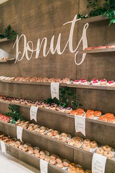 This rustic display is doughnut-lover's dream come true.