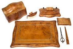 Italian Leather Desk Set,
