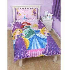 Disney Girls Disney Princess Sparkle Reversible Single Duvet/Quilt Cover Bedding Set (Single Bed) (Pink/Blu <ul><li>Disney Princess easy iron reversible single duvet set.</li><li> Duvet cover: 135cm x 200cm, Pillowcase 48cm x 74cm (all sizes approx).< (Barcode EAN = 5055805484161) http://www.comparestoreprices.co.uk//disney-girls-disney-princess-sparkle-reversible-single-duvet-quilt-cover-bedding-set-single-bed--pink-blu.asp