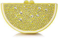 Kate Spade New York Via Limoni Lina Clutch Lemon Yellow One Size