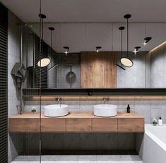 Home Inspiration // Beton Design Interior ideas The Perfect Scandinavian Style Home Double Sink Bathroom, Bathroom Sink Vanity, Modern Bathroom, Double Sinks, Bathroom Images, Bedroom Modern, Master Bathroom, Bathroom Ideas, Interior Minimalista