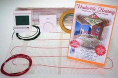 Underfloor heating, DIY ,undertile heaters and thermostats. Underfloor Heating Mats, Radiant Heat, Potted Plants, Diy, Flooring, Blog, Thermostats, House, Bricolage