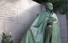 FDR Memorial- A 7.5-acre site, the memorial depicts the 12 pivotal years of Franklin Delano Roosevelt's presidency through a series of four outdoor gallery rooms.