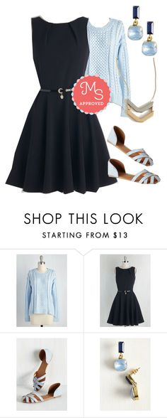 """""""Luck Be a Lady Dress in Black"""" by modcloth ❤ liked on Polyvore featuring Closet London, women's clothing, women's fashion, women, female, woman, misses, juniors, outfit and layers"""