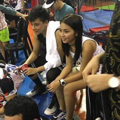 This is Kathryn Bernardo and Daniel Padilla smilng for the camera while getting ready for the Pangako Sa 'Yo Basketball Tournament after a day of taping of the remake of Pangako Sa 'Yo last February 18, 2016. Kathryn was cheering on for Daniel during the game; and they're very happy and enthusiastic! :-) #KathNiel #KathNielBernadilla #PangakoSaYo #PangakoSaYoBasketballTournament #Roborats #RoboratsBasketball