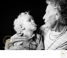 Bridget Corke Photography - Cheeky Grandson and Grandmother: