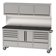 "OEMTOOLS 24615 72"" 11 Drawer Cabinet and Upper Cabinet"