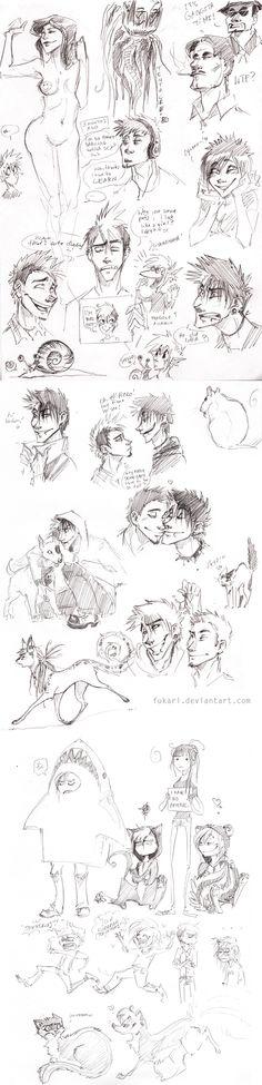 another doodles dump by Fukari.deviantart.com on @deviantART