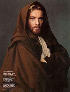 Ewan McGregor as Obi Wan Kenobi in Star Wars Jedi Cloak, Jedi Robe, Star Wars Quotes, Star Wars Humor, Mcgregor Wallpapers, All Jedi, Jedi Cosplay, Jedi Costume, Edition Jeunesse