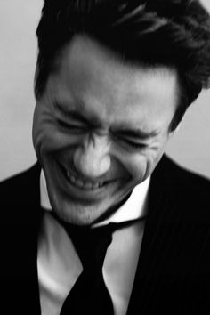 ♂ Black & white Robert Downey JR. Photographed by Greg Williams