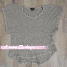 Sweater beige, manga corta, con hilos plateados #ArmaniExchange #SinUso.  Compra esta prenda en www.saveweb.com.ar