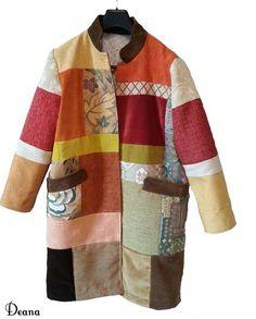 Cappotto patchwork .Assemblaggio campionari vari