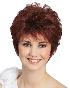 Red Afro Short pixie cut style wig with bangs straight Synthetic african american wigs for women (Size: One Size, Color: Red) Short Hair With Bangs, Wigs With Bangs, Short Curly Hair, Short Hair Cuts, Curly Hair Styles, Thin Hair, Short Haircuts 2014, Popular Short Hairstyles, Hairstyles With Bangs