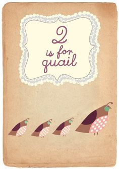 Q is for Quail Print from justaposedesign etsy shop