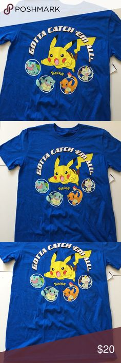 🆕BRAND NEW Blue Pokémon Men's Tee Brand new with attached tags. Men's sizing. 📦Bundle and save💰5%! ❌Price is firm unless bundled❌ Pokemon Shirts Tees - Short Sleeve