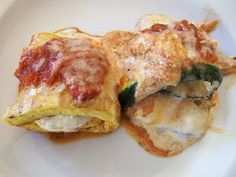 Pasta-less Manicotti - I bet I could make this even healthier with a few changes....problem is I'm the only one that will like it in my family......  :/