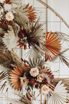 Get Inspired by the Folksy Fall Palette and Dried Palms in This Wedding Inspo at The Mulberry NSB inspo events Get Inspired by the Folksy Fall Palette and Dried Palms in This Wedding Inspo at The Mulberry NSB Palm Wedding, Floral Wedding, Wedding Bouquets, Wedding Flowers, Yacht Wedding, Boho Wedding, Simple Wedding Decorations, Simple Weddings, Dried Flower Bouquet