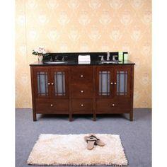 Traditional Double Sink Bathroom Vanity WLF6017