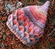 Häkeln Sie Muster (uns Begriffe) Krokodil Stitch Pixie Hut