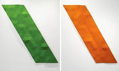 Rupert Deese - a cross between relief sculptures and monochromatic paintings