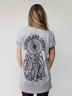 Dreamcatcher tee - £16 available from www.crownandcross.co.uk  #clothing #style…