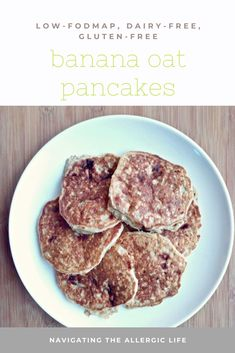 Recipes Breakfast Banana A low-FODMAP healthy breakfast option, these Banana Oat Pancakes are full of flavor and will fill you up. Oats Recipes, Milk Recipes, Dairy Free Recipes, Fodmap Recipes, Banana Oat Pancakes, Banana Oats, Healthy Breakfast Options, Breakfast Recipes, Fodmap Breakfast
