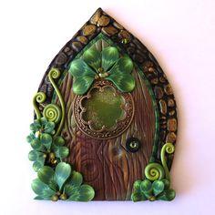 Shamrock Window Fairy Door Pixie Portal Leprechaun by Claybykim