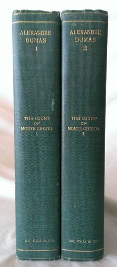 Alexandre Dumas The Count Of Monte Cristo 2 Volumes Circa 1901 from $79.95