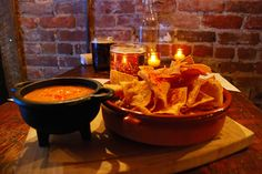 Queso Chili Dip. The Malt House. 206 Thompson Street. New York, NY 10012.