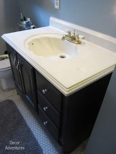 How To Remove A Countertop From A Vanity + Bathroom Misadventures