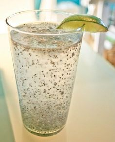 Chia Fresca  1 cup spring or filtered water 1 tablespoon chia seeds 2 teaspoons fresh lemon or lime juice 2 teaspoons agave nectar or honey  Whisk the chia seeds into the water and allow them to soak for 10-15 minutes. Stir in lemon or lime juice and agave and whisk well. Drink immediately. Makes 1 serving.