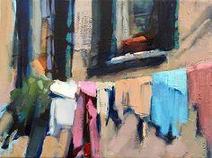 Wash Day by Trisha Adams Oil ~ 9 x 12