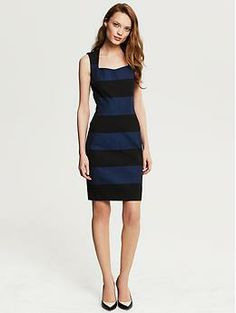 Banana Republic Sloan Rugby Stripe Sheath