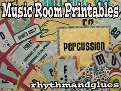 Music Bulletin Board Printables--lots of good stuff here.